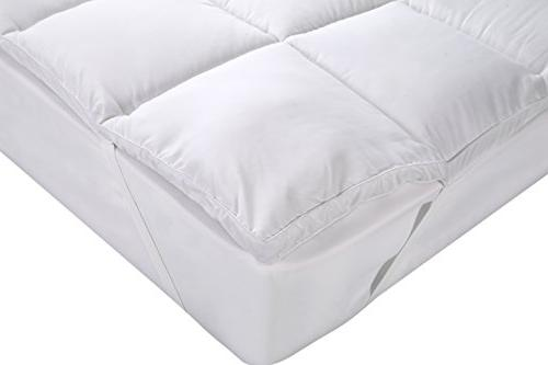 Utopia Mattress Topper – Cover To 15 Inches Deep Mattress Protector Fiber Filling