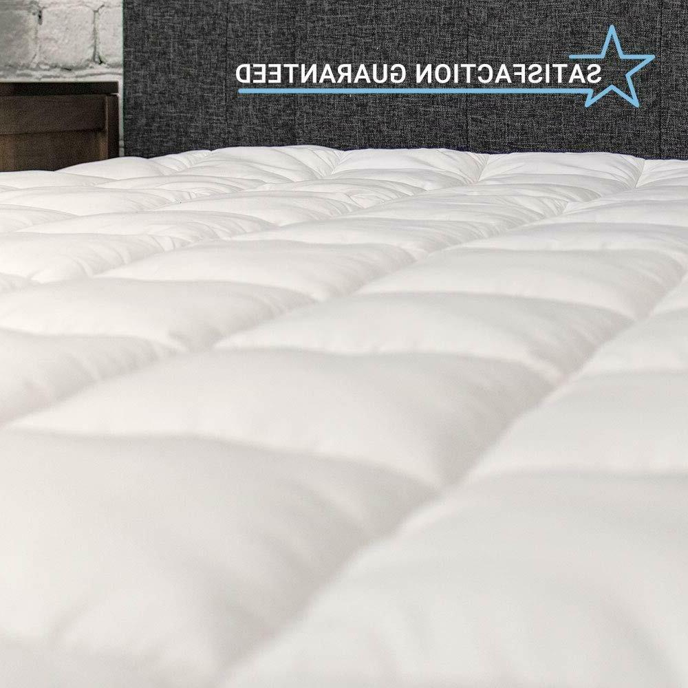 eLuxurySupply Pillowtop Mattress Pad Topper Cover 18''
