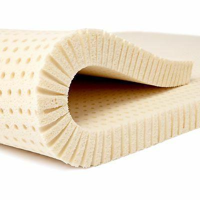 Pure Green 100% Natural Latex Mattress Topper - Medium Firmn