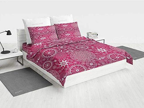 purple mandala white bedding sets