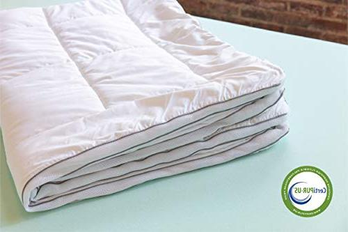 ViscoSoft Memory Mattress Topper - Layer Includes Quilted, CertiPUR-US Made in USA