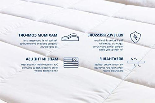 ViscoSoft 4 Memory Topper Layer Quilted, Pillow CertiPUR-US