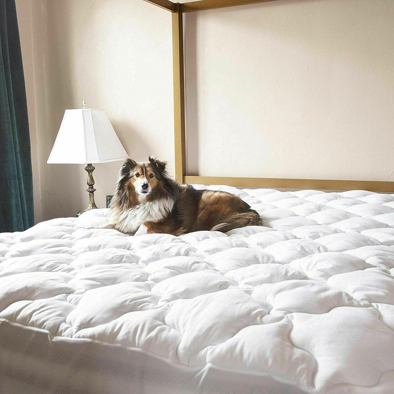 queen mattress pad deep pocket down alternative