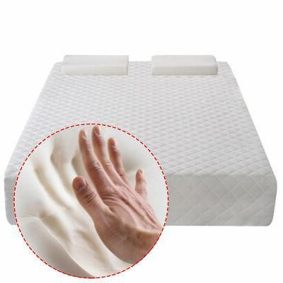 "Queen Size 10"" Memory Foam Mattress  Pad Bed Topper 2 FREE P"