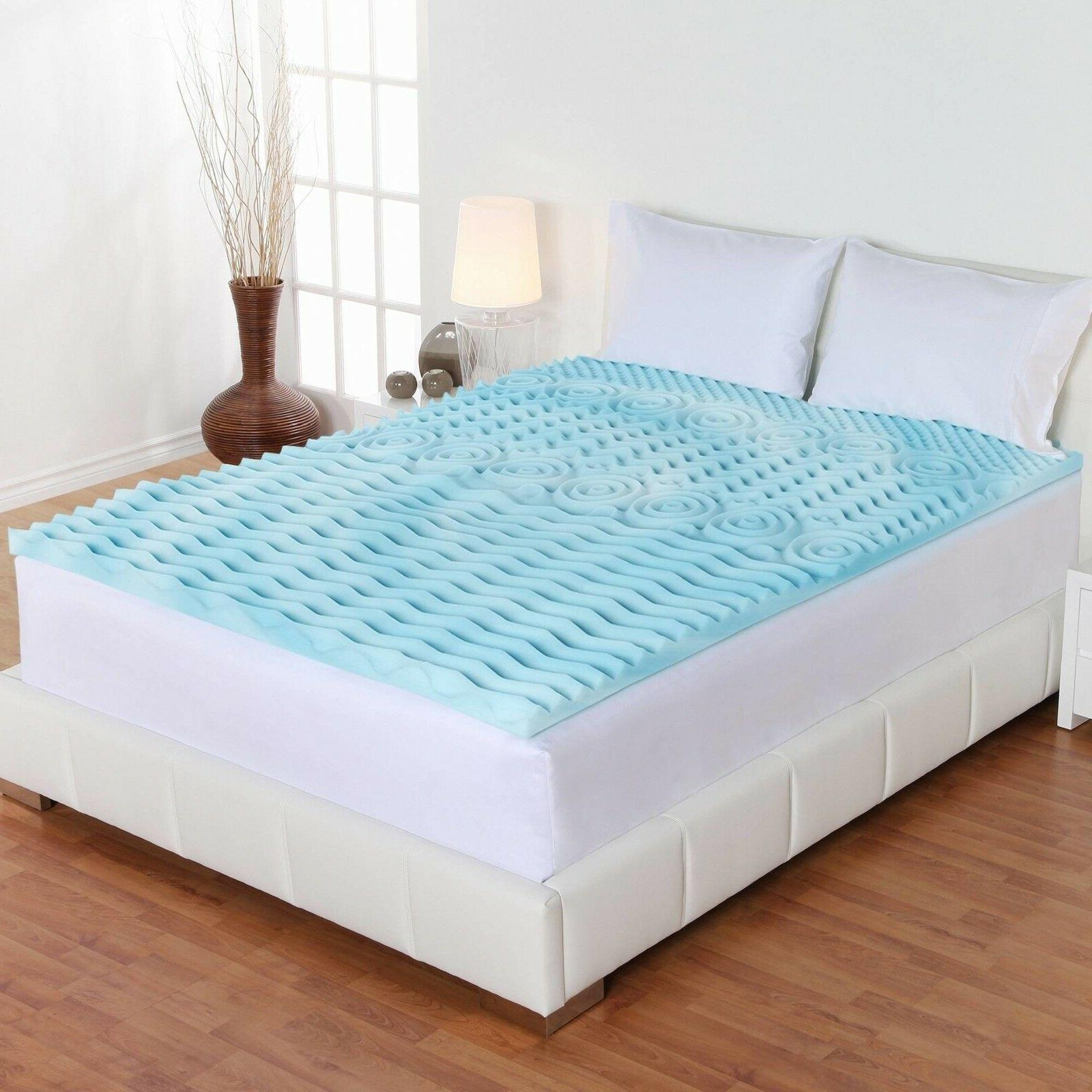 Twin Size 3 Inch Cool Gel Memory Foam Mattress Topper 5 Zone