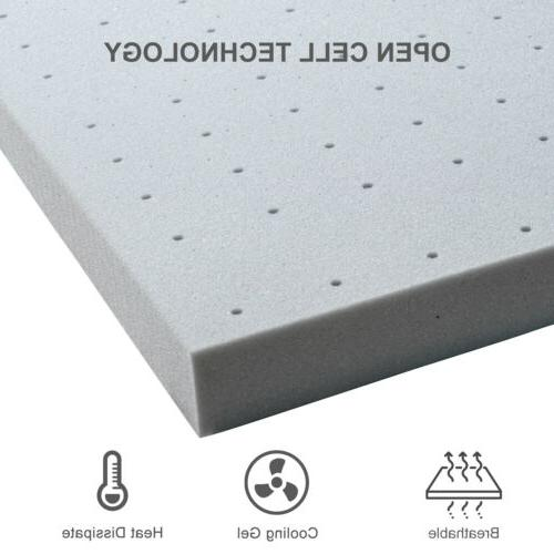Maxzzz Size Inch Memory Foam Topper Charcoal Topper
