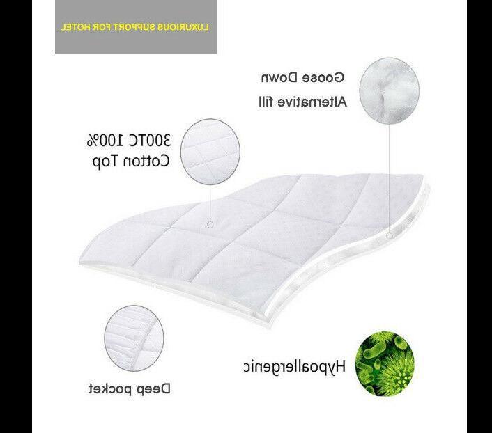Queen Size Mattress Cover Foam Top Topper Bed