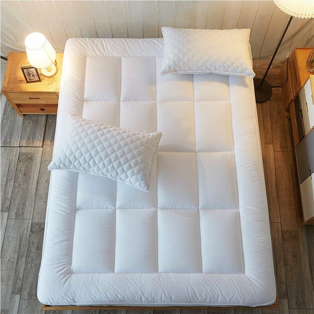 Queen Size Mattress Pad Cover Cooling Foam Pillow Top Topper