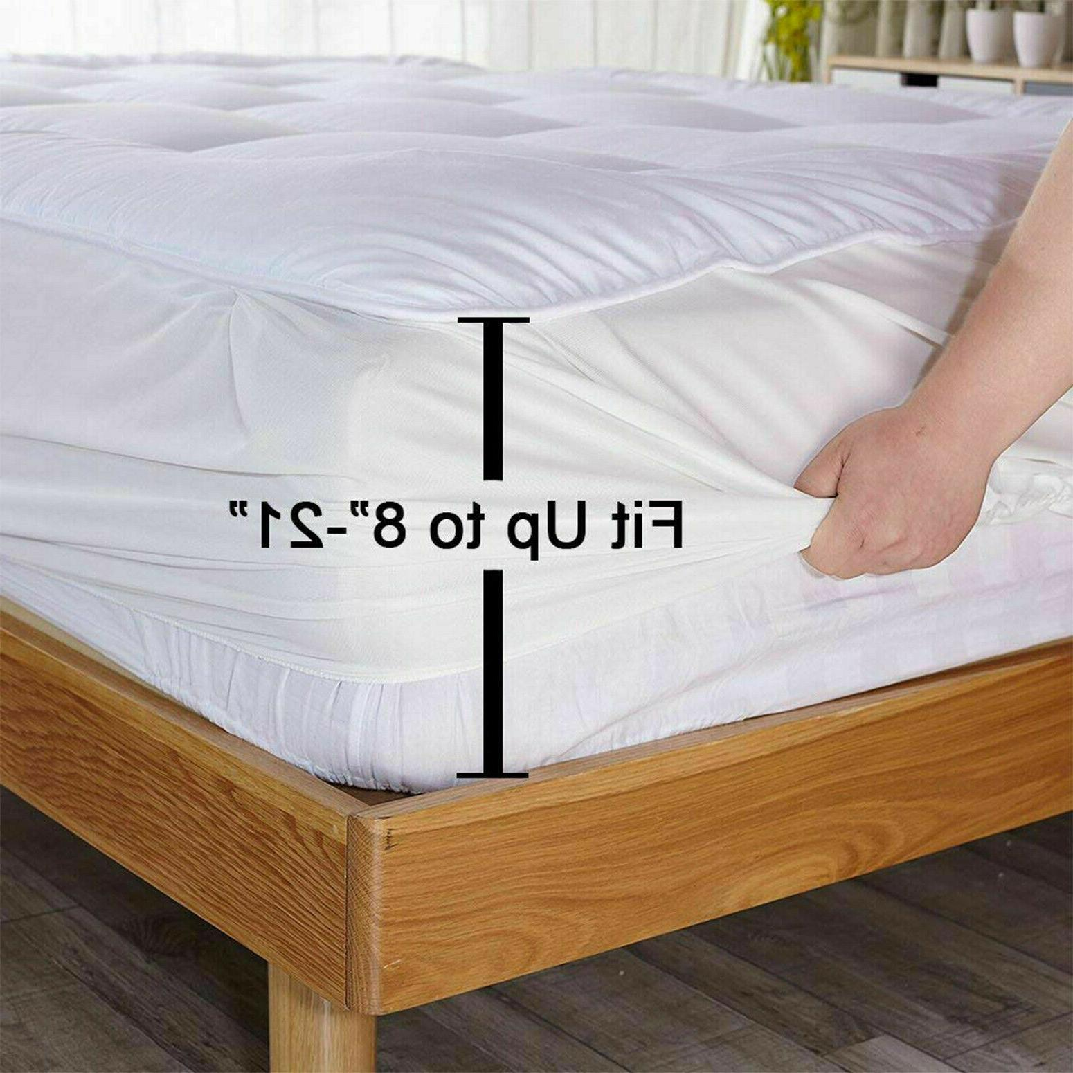 Queen Size Pad Cover Pillow Luxury Bed