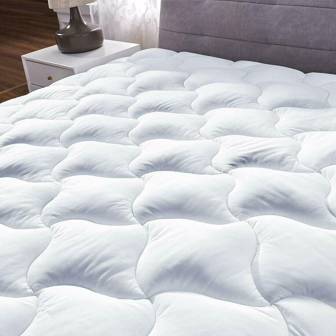 Queen Cover Down Pillow Top Topper Luxury Bed