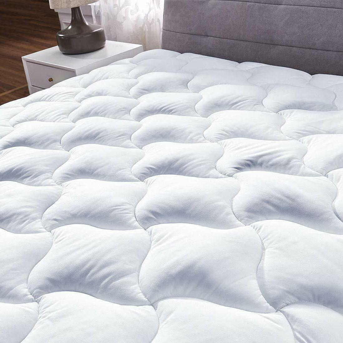 Queen Cover Alternative Pillow Top Topper Bed