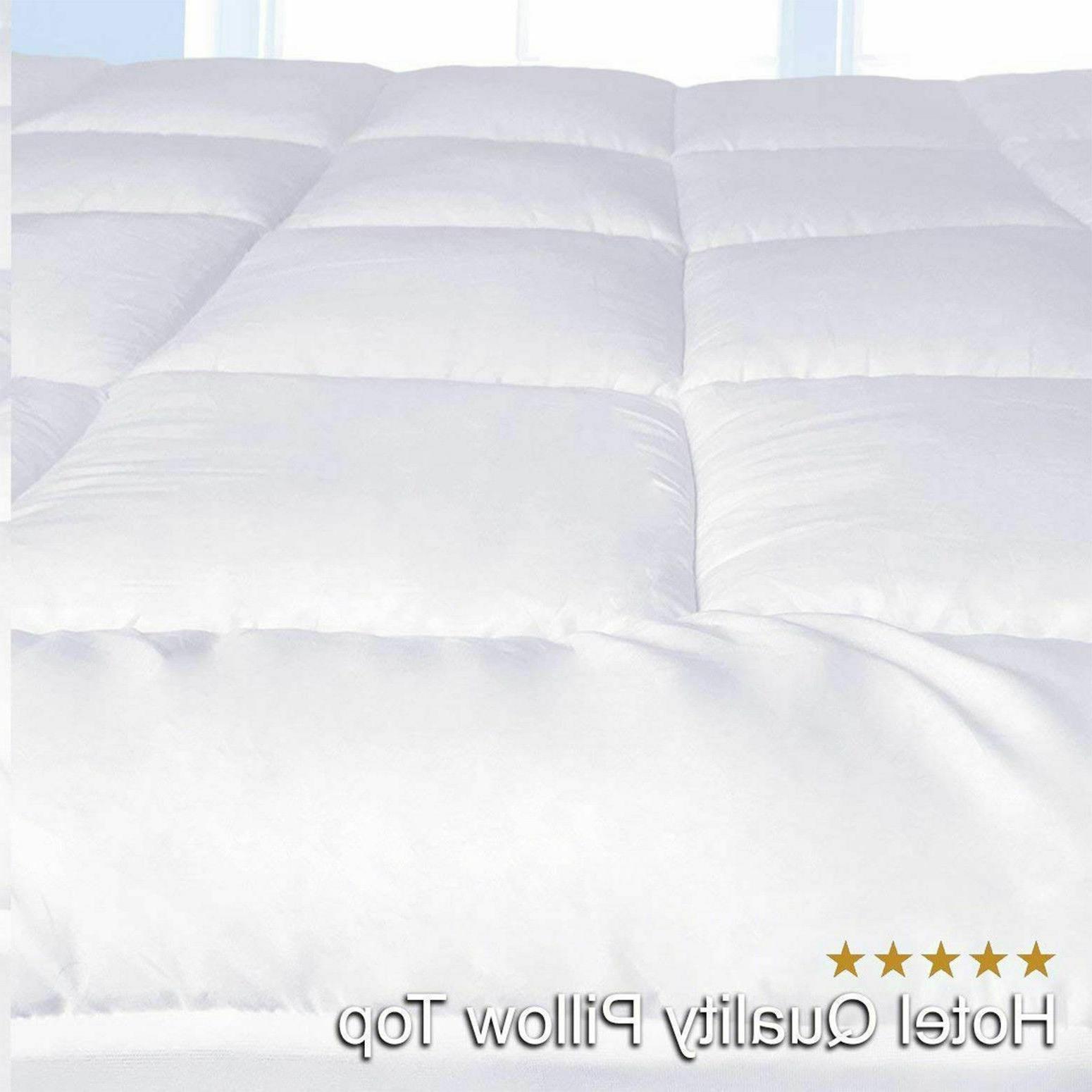 Queen Size Mattress Cover Down Alternative Pillow Bed