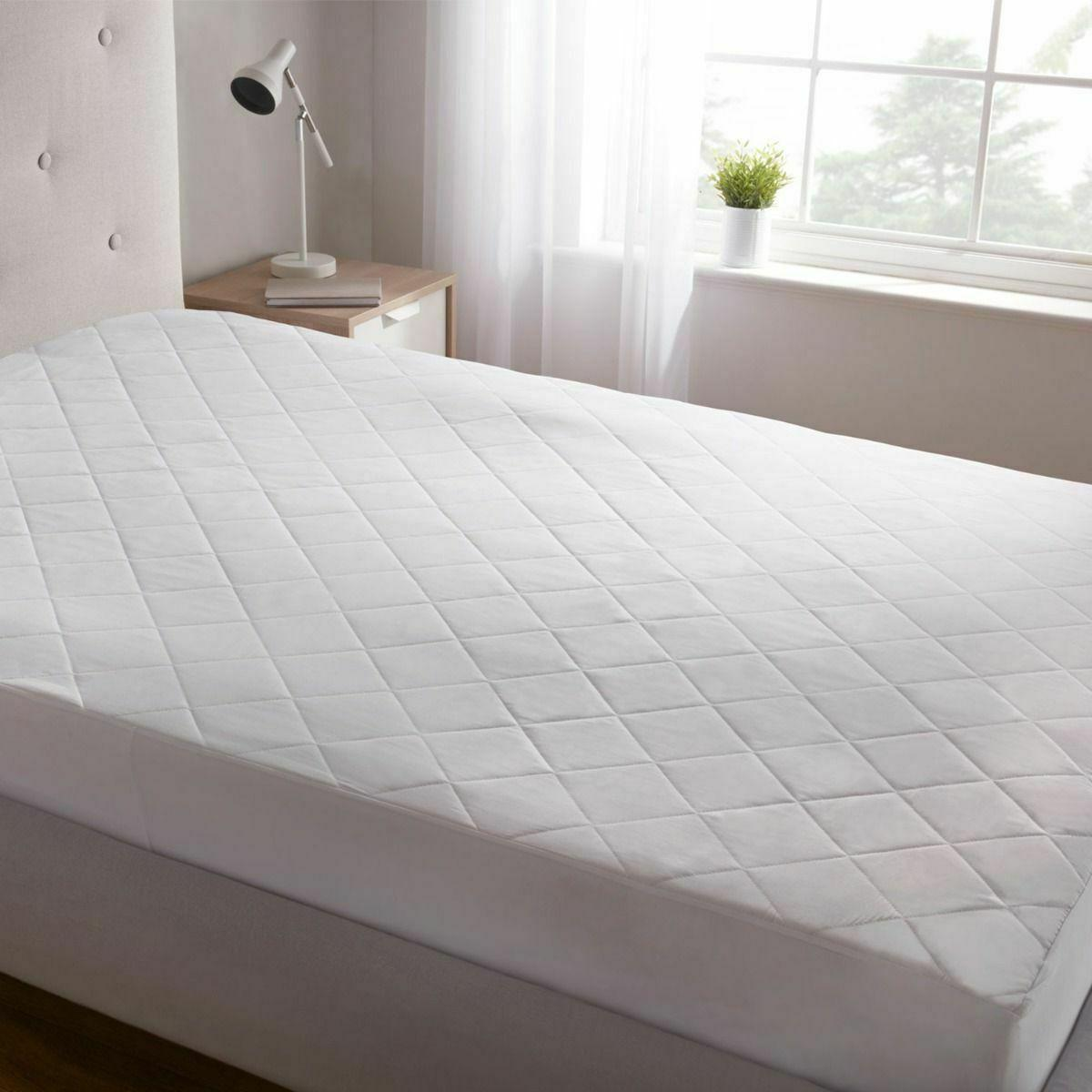 "Queen Size Quilted Mattress Protector Pad Topper Cover 16"" D"