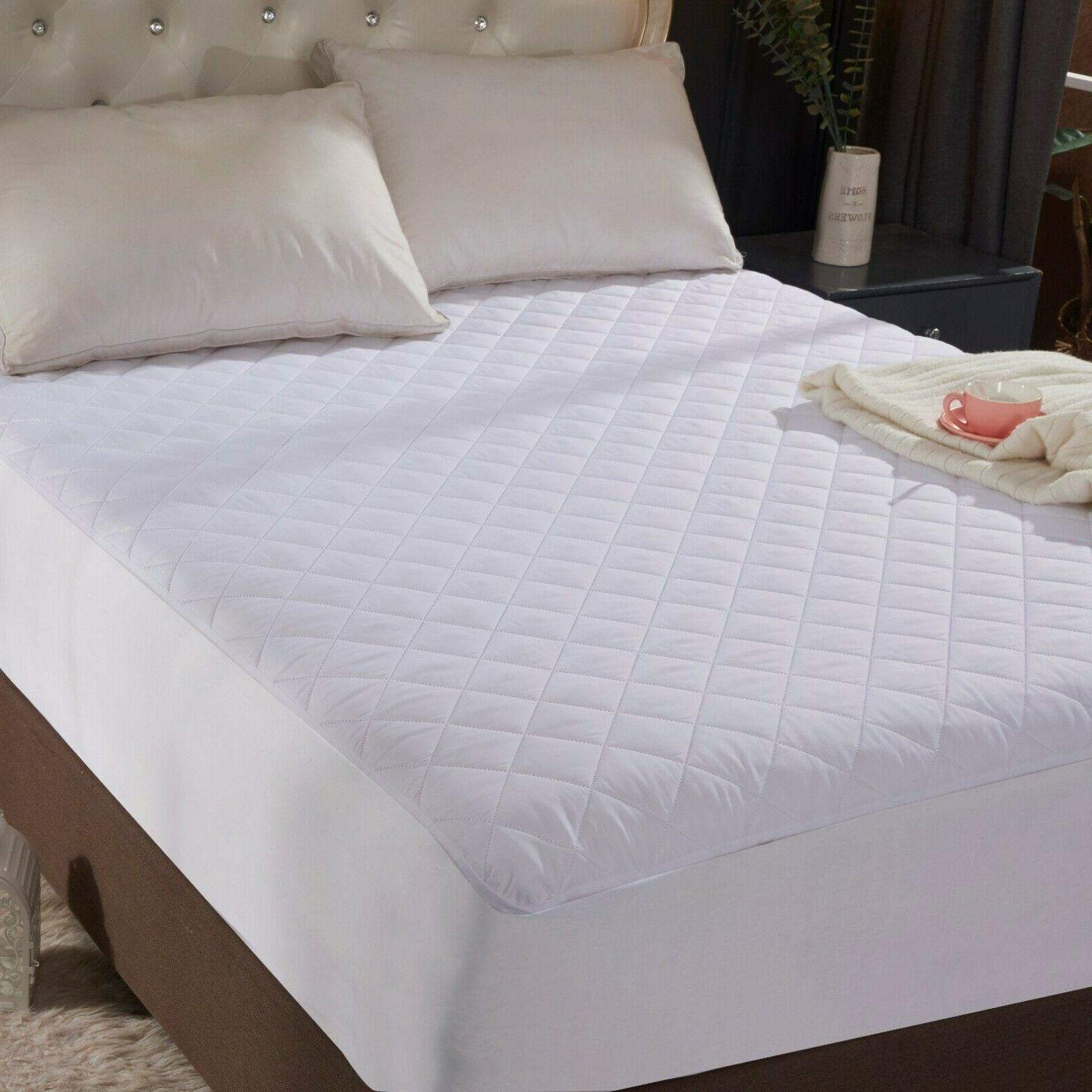 "Queen Quilted Mattress Protector Topper 16"" Deep Bed Sheet"