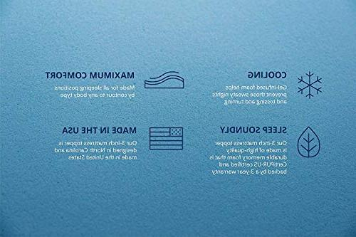 ViscoSoft Gel Memory Mattress in USA Cloud-Like Support Side, Back, Stomach Sleepers Infused