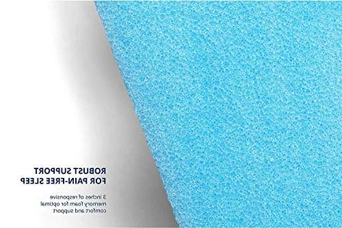 ViscoSoft Inch Response Gel Memory Foam Queen Mattress Support Stomach Sleepers Infused Temperature Regulation