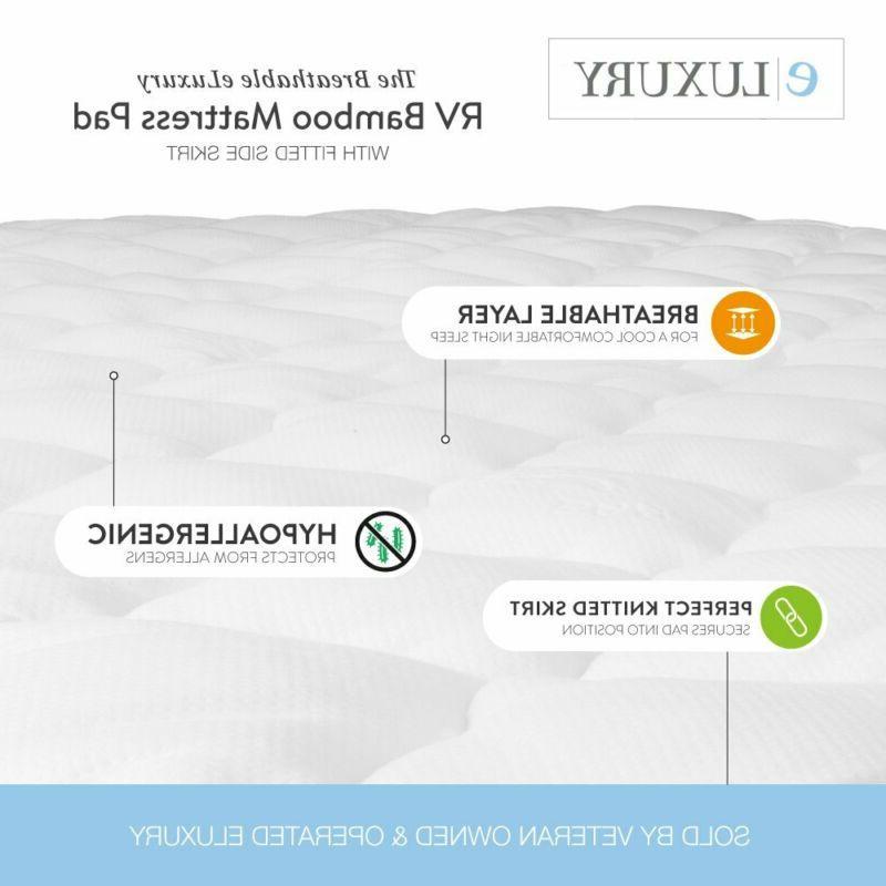 eLuxurySupply RV Mattress - Topper - Ma