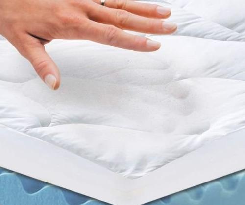 "Perfect Sleeper - 4 Cushioned Plush Mattress Topper x 80"" 4"""