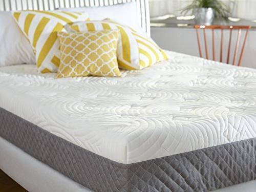 Sleep Innovations Memory Foam Quilted the with 20-Year Warranty - Twin Size