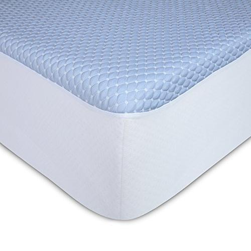 Fashion Bed Chill + Mattress Protector Cooling Fibers Fabric, Queen