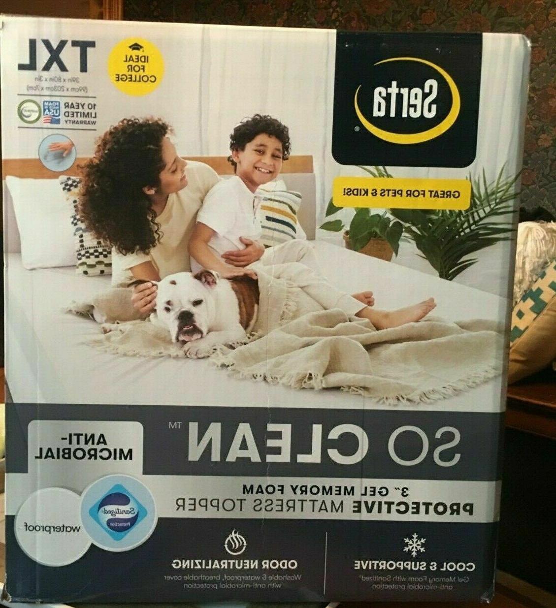 so clean 3 memory foam protective mattress