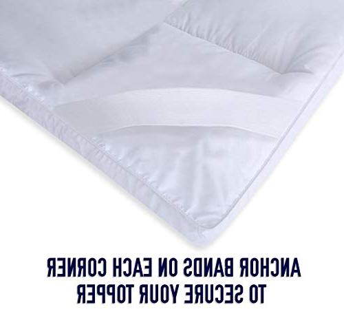 """Home Thick Hypoallergenic Bed Mattress Topper, 2"""""""