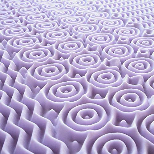 Best Price 3 Inch Memory Foam Bed with Lavender Cooling Mattress Pad
