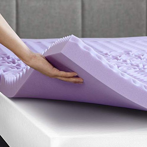 Best 3 Inch 5-Zone Foam Bed Topper with Lavender Pad