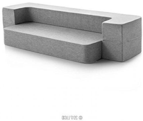 LUCID 8 Inch Twin Size Foam Mattress/ Floor Sofa Folding Gue