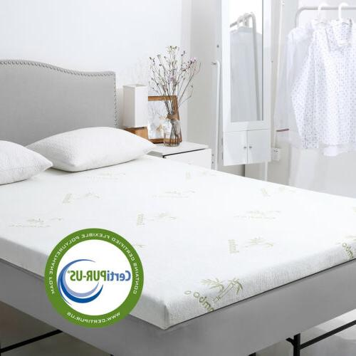 memory foam mattress topper twin queen gel