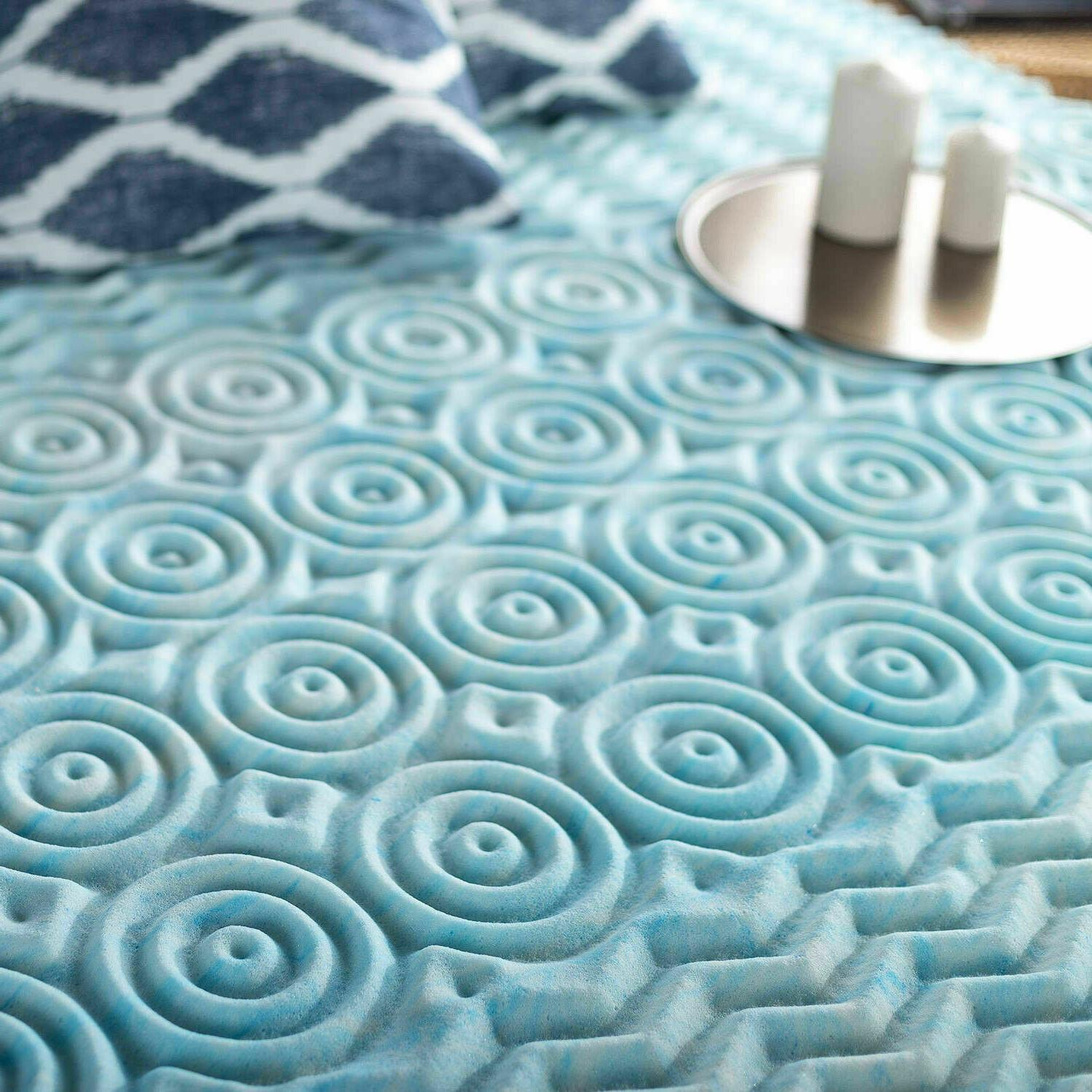 """Twin Mattress Bed Topper with Zoned Fusion 1"""" Inch"""