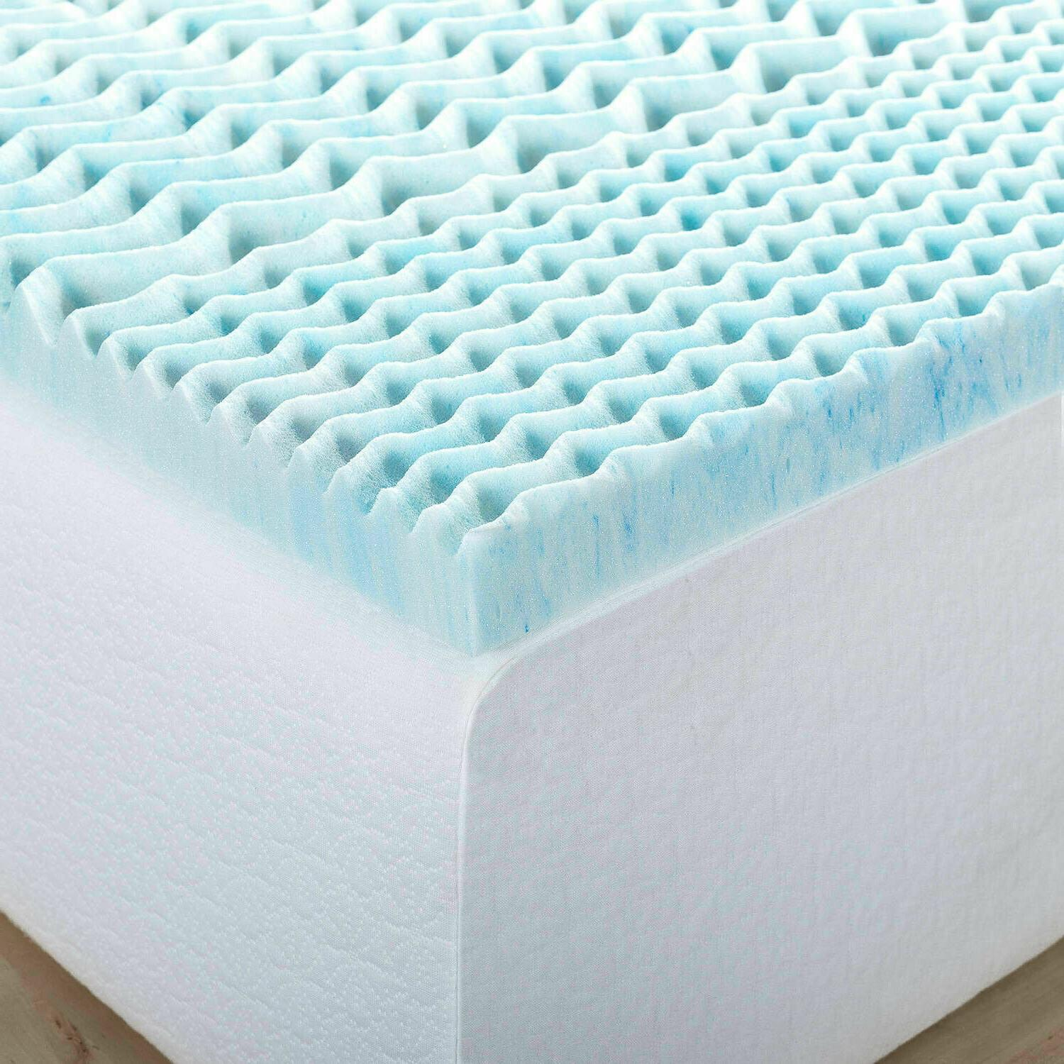 """Twin Size Mattress Bed Topper Zoned 1"""" Inch"""