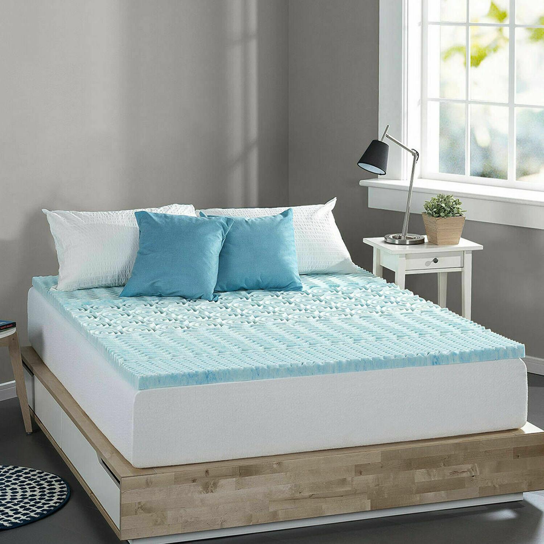 twin size memory foam mattress bed topper
