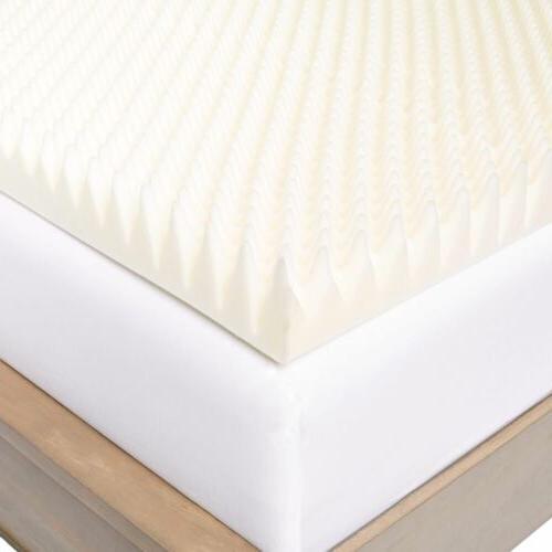 Twin XL Full Cal 4 Inch Memory Foam Pad Egg