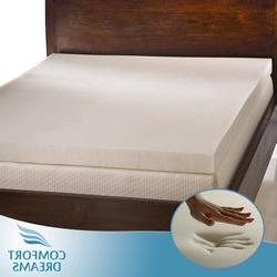 Comfort Dreams Ultra Soft 4-inch Memory Foam Mattress Topper