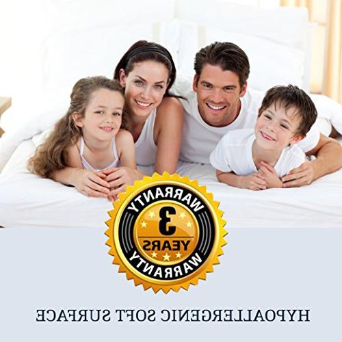 Great Home Hotel Quality King Mattress Topper. Hypoallergenic Featherbed- Inch Thick Mattresses Deep