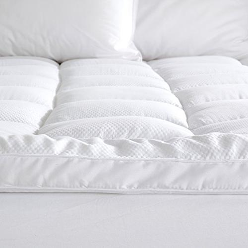 """Great Bay Hotel King Mattress Topper. Featherbed- Plush Thick Fits Mattresses up 18"""" Deep"""