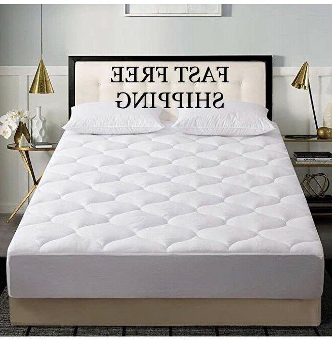 waterproof queen mattress pad quilted pillow top