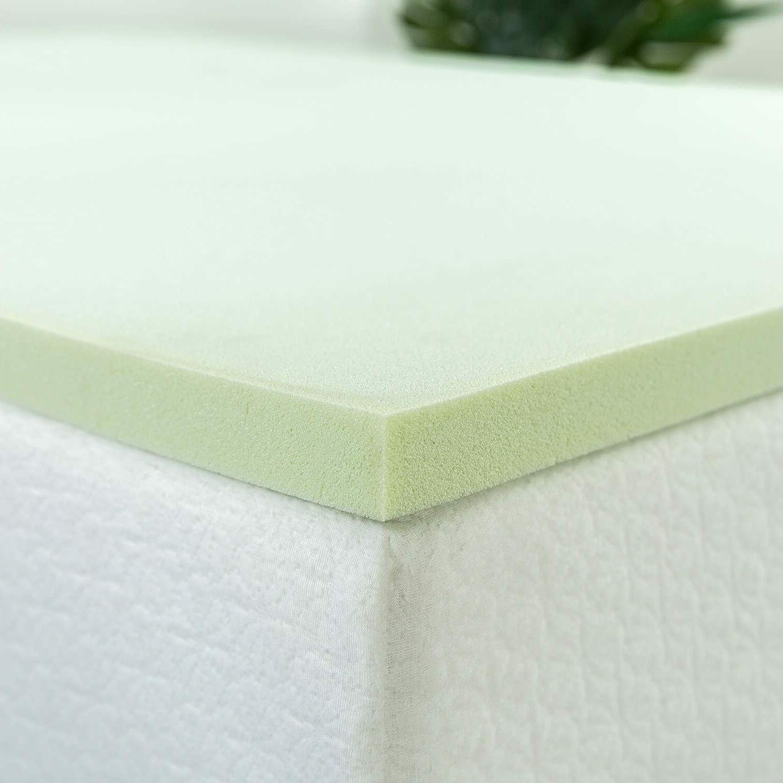 Zinus 1.5 Inch Green Tea Memory Foam Mattress Topper, Twin