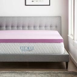 LUCID Comfort Collection Lavender Memory Foam Mattress Toppe