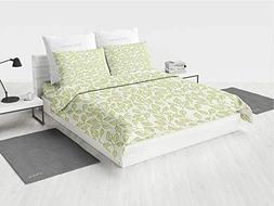 Leaves UGG Comforter Bedding Set Watercolor Green Tea Leaves