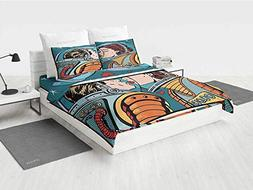 Love Decor Full Bedding Set Space Man and Woman Astronauts K