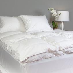 Allied Essentials Luxe 100% Cotton White Down Feather Mattre