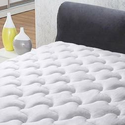 Luxury Fitted Cooling Matress Pad Cotton Mattress Topper Qui