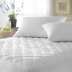 "Mattress Cover Quilted Fitted Pad Stretches Up To 16"" Deep 1"