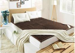 Mattress Flannel 200x180cm Warm Beds Mats Topper Bedroom Foa