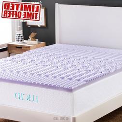 Mattress Gel Memory Foam Topper Airbed Pad All Sizes 2 inche
