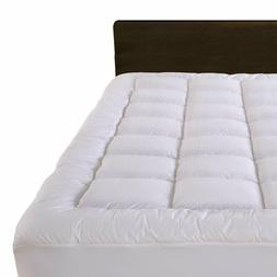 Mattress Pad 300TC Cotton Cover Overfilled Fitted  Pillow To