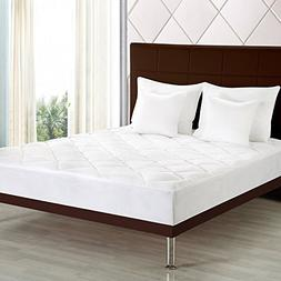 Premium Mattress Pad  - Quilted Fitted Mattress Topper Stret