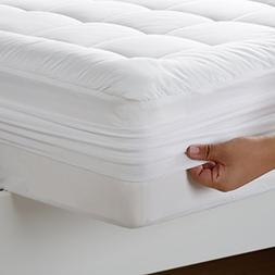 RISAR Mattress Pad Bed Cover(Down Alternative,King) Th